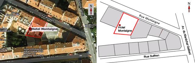 Ubicación Hotel Montaigne